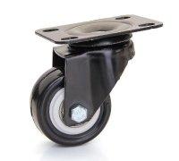 Колесо черная резина поворотное (4053040)