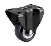 Колесо черная резина неповоротное (4052040)