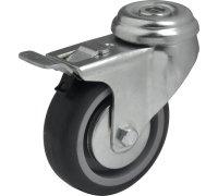 Колесо серая резина под болт с тормозом (3057050)