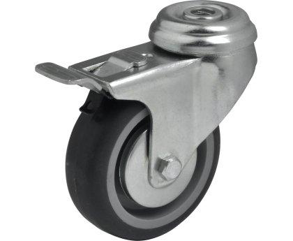 Колесо серая резина под болт с тормозом (3057075)