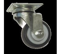 Колесо серая резина поворотное, мягкая резина (3053050М)