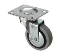 Колесо серая мягкая резина поворот 50мм Кронштейн-Нержавющая сталь, SUS 304 (3053050НЕРЖ)