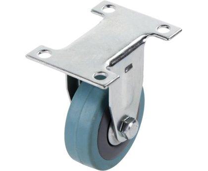 Колесо серое мягкая резина неповоротное 50мм Кронштейн-Нержавющая сталь, SUS 304 (3052050НЕРЖ)