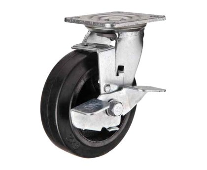 Колесо большегрузное поворотное с тормозом (1084250)