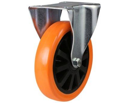 Колесо б/г полиуретановое неповоротное PVC (Medium) (4021125 PVC)