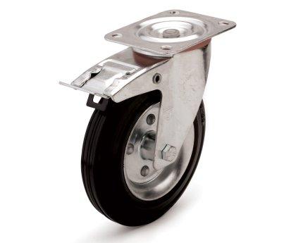 Колесо промышленное поворотное с тормозом (4003075)