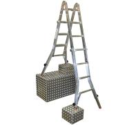 Лестница-стремянка четырёхсекционная KRAUSE TeleVario 4x4 ступени (129970)