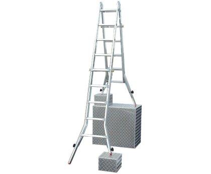 Лестница-стремянка четырёхсекционная KRAUSE TeleVario 4x5 ступеней (129987)