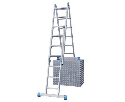 Комбинированная шарнирная лестница KRAUSE Stabilo 2x3+2x6 ступеней (133922)