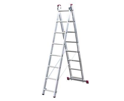 Лестница-стремянка KRAUSE Corda 2x8 ступеней (010285)
