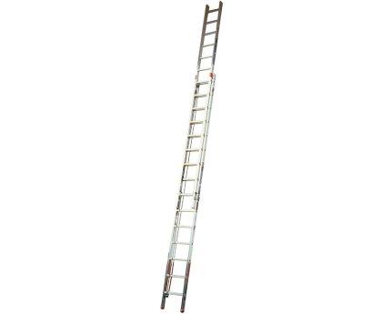 Лестница выдвижная с тросом KRAUSE Robilo 2x15 ступеней (129840)