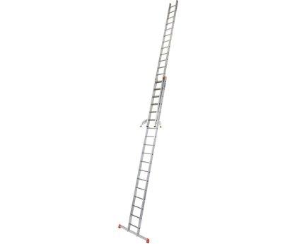 Лестница выдвижная KRAUSE Fabilo Trigon 2x12 ступеней (129307)