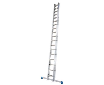 Лестница выдвижная с тросом KRAUSE Stabilo 2x15 ступеней (133847)
