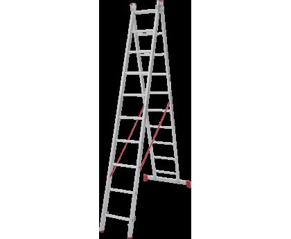 Лестница Новая высота NV 222 2x10 ступеней (2220210)