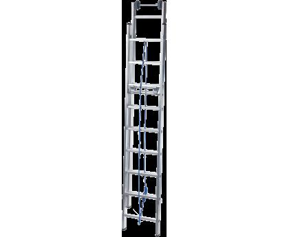 Лестница выдвижная с тросом Новая высота NV 524 2x18 ступеней (5240218)
