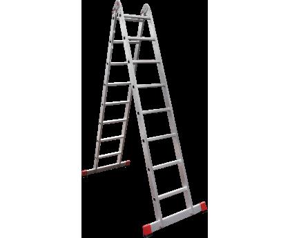 Лестница шарнирная Новая высота NV 331 2x8 ступеней (3310208)
