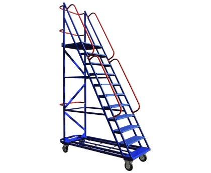 Передвижная лестница с платформой 10 ступеней (ЛС 10)