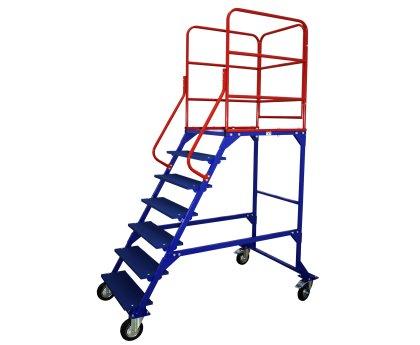Передвижная лестница с платформой 6 ступеней (ЛР 6.1)