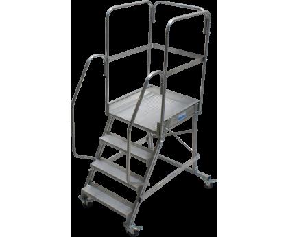 Лестница KRAUSE Corda с площадкой передвижная 4 ступени (820020)