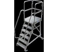 Лестница KRAUSE Corda с площадкой передвижная 6 ступеней (820044)