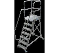 Лестница KRAUSE Corda с площадкой передвижная 7 ступеней (820051)