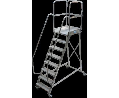 Лестница KRAUSE Corda с площадкой передвижная 8 ступеней (820068)