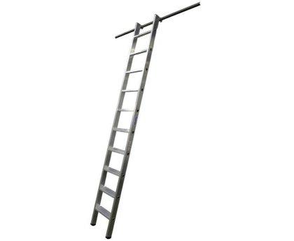 Стеллажная лестница KRAUSE Stabilo с 1 парой навесных крюков (125132)
