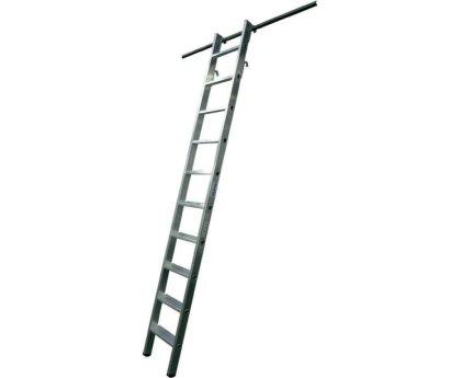 Стеллажная лестница KRAUSE Stabilo с 2 парами навесных крюков (125187)