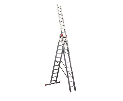 Лестница-стремянка трехсекционная KRAUSE Tribilo+ 3x8 ступеней (129741)