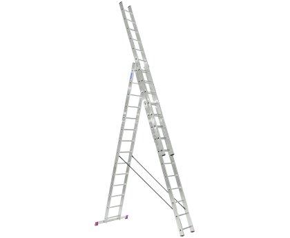 Лестница-стремянка трехсекционная KRAUSE Corda 3x14 ступеней (010452)