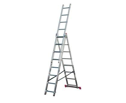 Лестница-стремянка трехсекционная KRAUSE Corda 3x8 ступеней (010384)