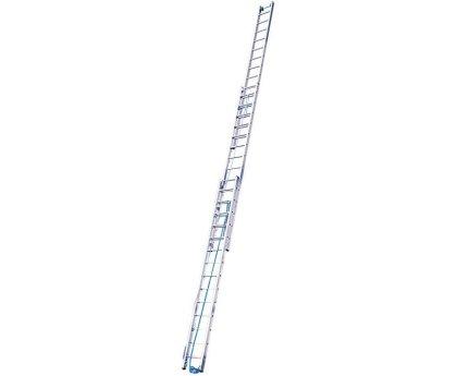Лестница трехсекционная с тросом KRAUSE Stabilo 3x18 ступеней (800770)