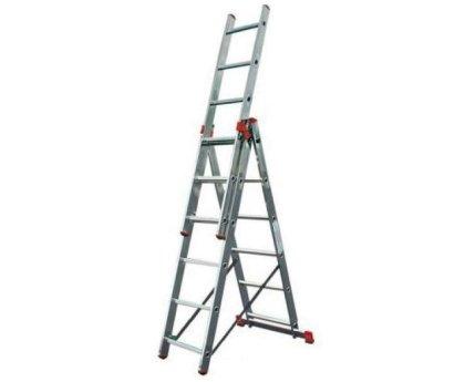 Лестница-стремянка трехсекционная KRAUSE Tribilo 3x6 ступеней (120595)