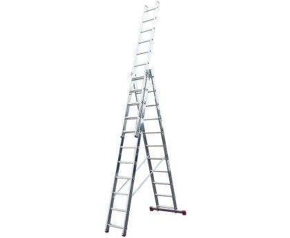 Лестница-стремянка трехсекционная KRAUSE Corda 3x11 ступеней (010421)
