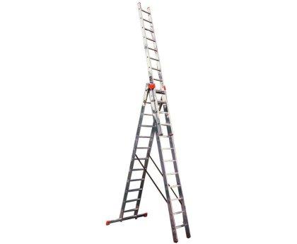 Лестница-стремянка трехсекционная KRAUSE Tribilo+ Trigon 3x12 ступеней (129789)