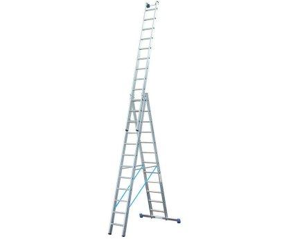 Лестница-стремянка трехсекционная KRAUSE Stabilo 3x14 ступеней (133724)