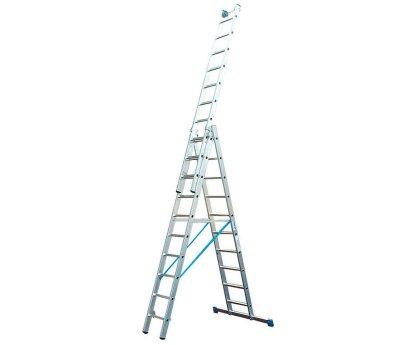 Лестница-стремянка трехсекционная KRAUSE Stabilo 3x10 ступеней (133762)
