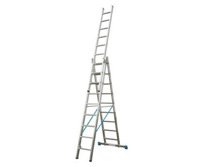 Лестница-стремянка трехсекционная KRAUSE Stabilo 3x9 ступеней (133755)