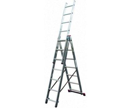Лестница-стремянка трехсекционная KRAUSE Corda+ 3x9 ступеней (013392/086398)