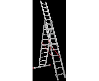 Лестница профессиональная Новая высота NV 323 3x10 ступеней (3230310)