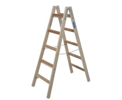 Стремянка деревянная KRAUSE Stabilo 2x5 ступеней (170071)