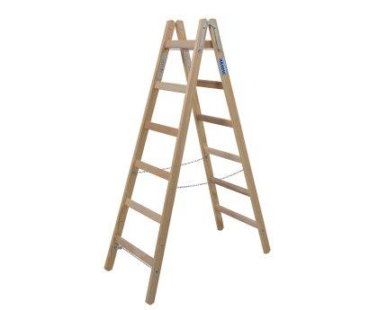 Стремянка деревянная KRAUSE Stabilo 2x6 ступеней (170088)