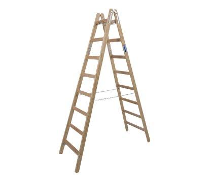 Стремянка деревянная KRAUSE Stabilo 2x8 ступеней (170101)