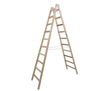 Стремянка деревянная KRAUSE Stabilo 2x10 ступеней (170125)