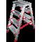 Стремянка индустриальная Новая высота NV 512 2x4 ступеней (5120204)