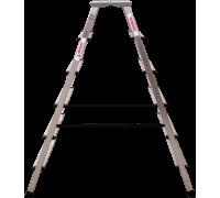 Стремянка с увеличенной площадкой Новая высота NV 212 2x6 ступеней (2120206)