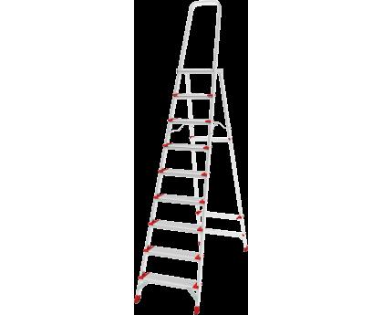 Стремянка с большой верхней площадкой Новая высота NV 5130 9 ступеней (5130109)