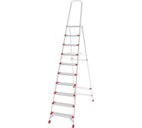 Стремянка с большой верхней площадкой Новая высота NV 5130 10 ступеней (5130110)