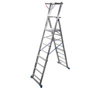 Телескопическая лестница с платформой KRAUSE Stabilo 6-8 ступеней (127624)