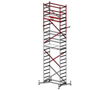 Вышка-тура строительная KRAUSE Climtec 6м (база + две надстройки) (710116/710130/710154)